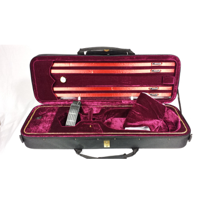 Deluxe Oblong Suspension Violin Case.