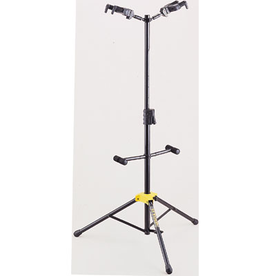 Hercules double guitar stand.