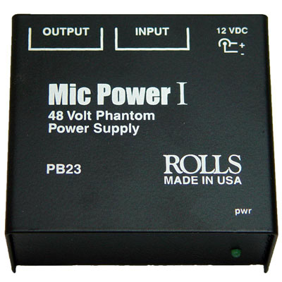 PB23 Mic Power I Phantom Power Adaptor.