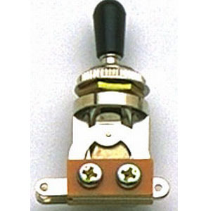 Short Straight 3 way Toggle Switch Black.