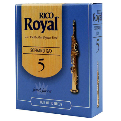 Rico Royal Soprano Sax Reeds Box Of 10.