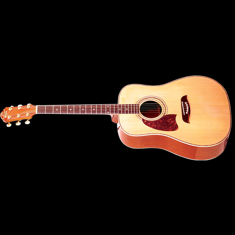 Left Handed Intermediate Acoustic Dreadnought Guitar.