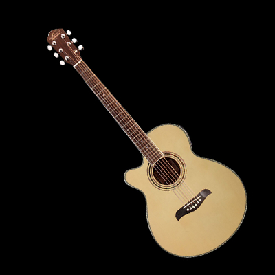 Lefty Acoustic/Electric Cutaway Concert Style Guitar with Tuner.