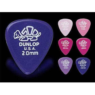 Dunlop Delrin 500 guitar picks.