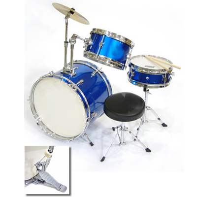 3 Piece Junior Drum Set.