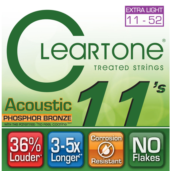 Cleartone Phosphor Bronze Acoustic Strings.