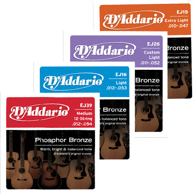D'Addario Phosphor Bronze Acoustic Strings.
