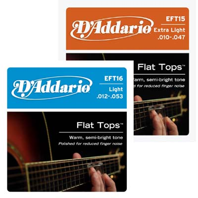 D'Addario Flat Top Acoustic Strings.