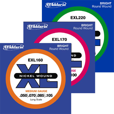 D'Addario 4-String Bass Strings.
