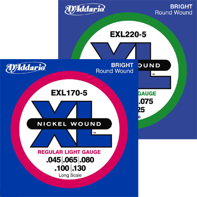 D'Addario 5-String Bass Strings.