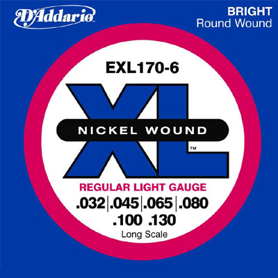 D'Addario 6-String Bass Strings.