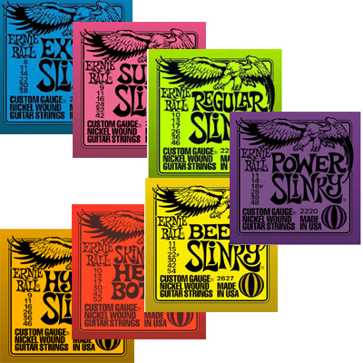 Ernie Ball Electric Strings.