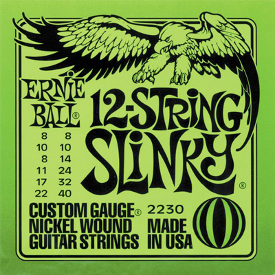 Ernie Ball 12-String Electric Strings.