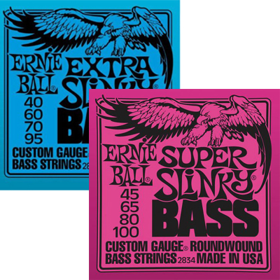 Ernie Ball 4-String Bass Strings.