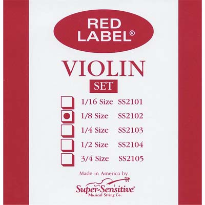 Red Label Violin Set.