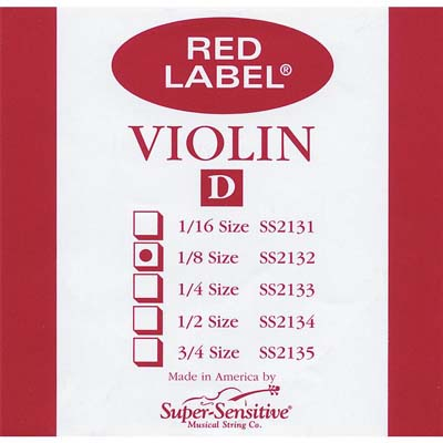 Red Label Violin D String.