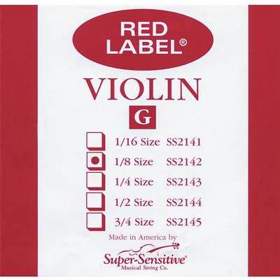 Red Label Violin G String.
