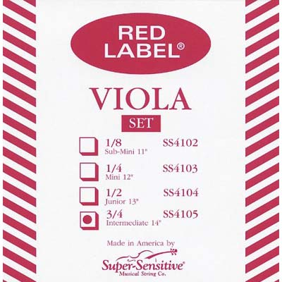 Red Label Viola Set.