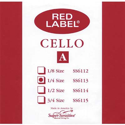 Red Label Cello A String.