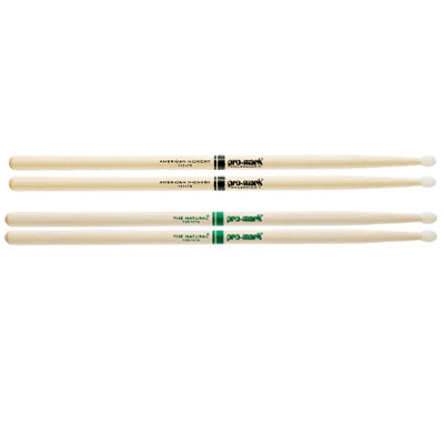 Pro Mark American Hickory Nylon Tip Drum Sticks.