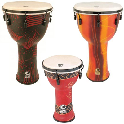 "Toca 10"" Mechanically Tuned Djembe."