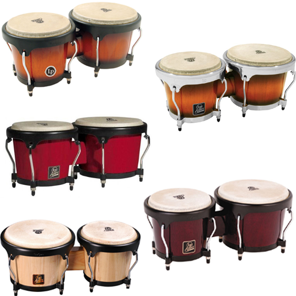 LP Aspire Wood Bongos.