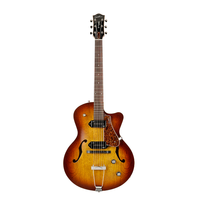 Godin 5th Avenue CW Kingpin II Cognac Burst.