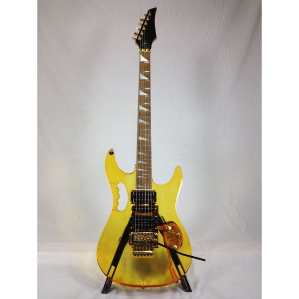 Orange Acrylic Jem Copy Electric Guitar.