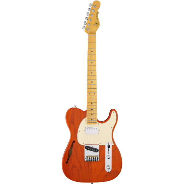 G&L Tribute ASAT Classic Bluesboy Semi-Hollow In Clear Orange.