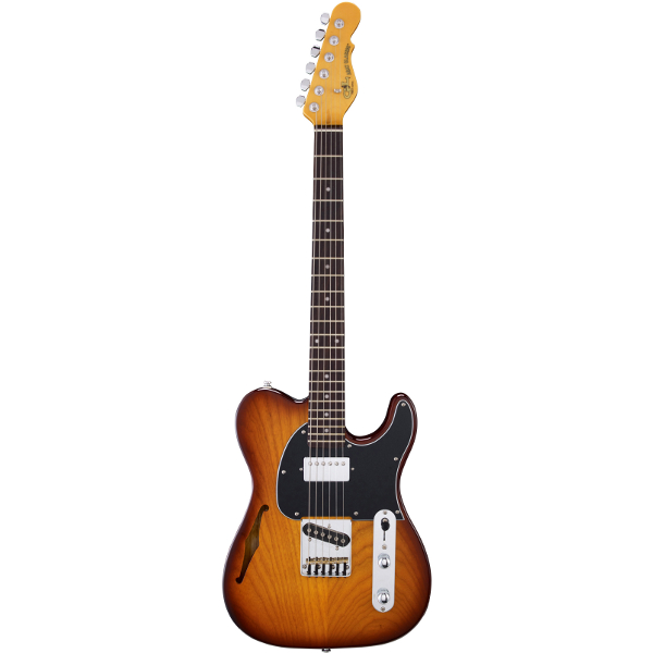 G&L Tribute ASAT Classic Bluesboy Semi-Hollow In Tobacco Sunburs