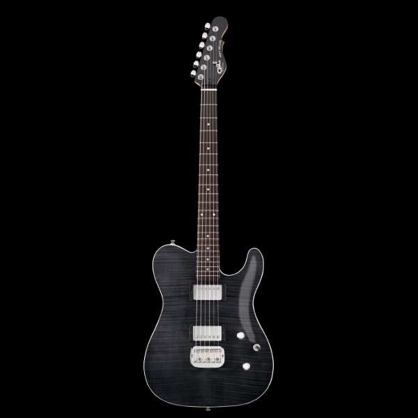 G&L Tribute ASAT Deluxe Carved Top In Trans Black.