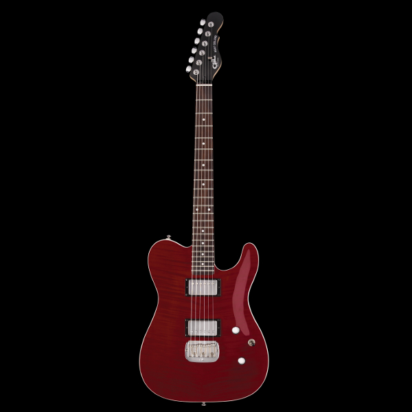 G&L Tribute ASAT Deluxe Carved Top In Trans Red.