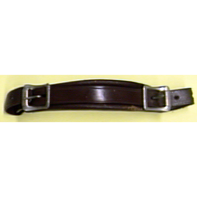 Emergency Handle Leather Buckle Type Brown.