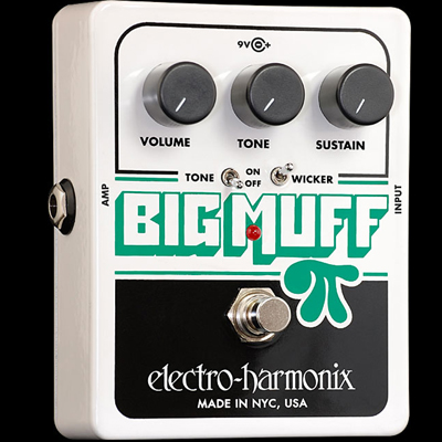 Electro Harmonix Big Muff Pi With Tone Wicker Pedal.