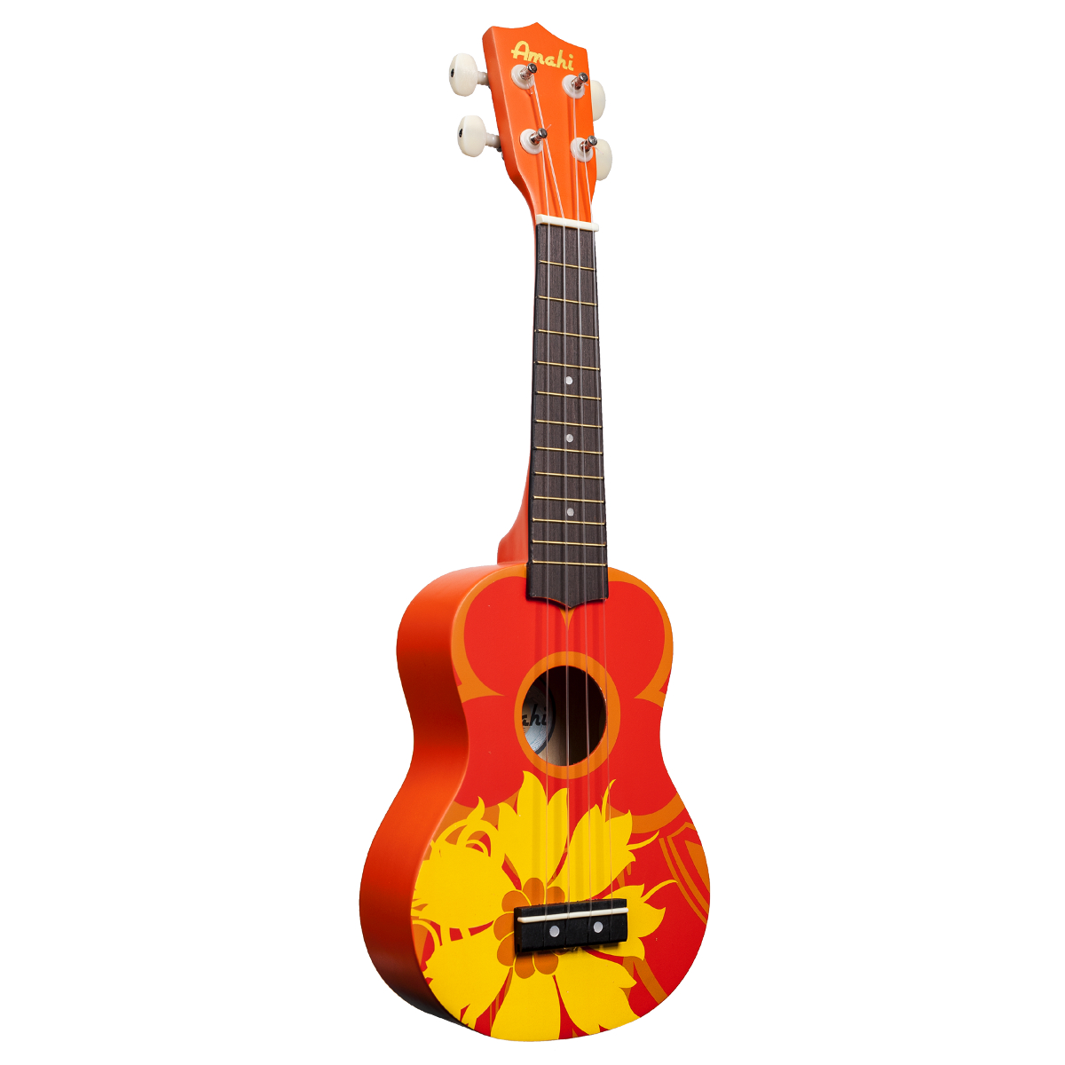 Amahi Orange Flower Soprano Ukulele.
