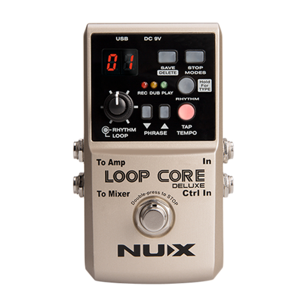 Nux Loop Core Deluxe Looper Pedal Bundle.