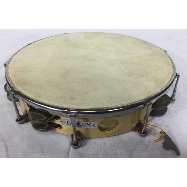 10 Inch Double Jingle Tune-Able Wood Tambourine Skin Head.