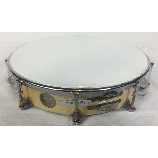 10 Inch Double Jingle Tune-Able Wood Tambourine Plastic Head.