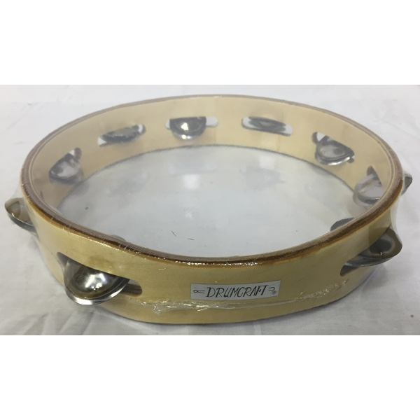 10 Inch Single Jingle Wood Tambourine.