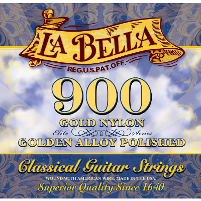 La Bella 900 Golden Superior Guitar Strings.