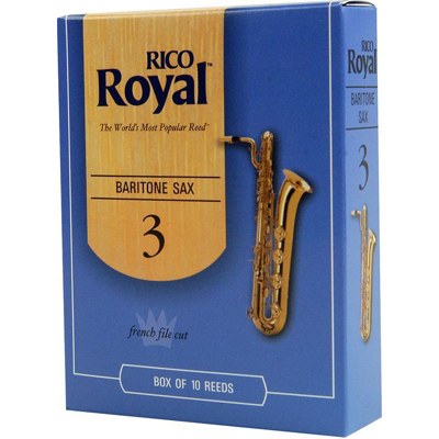 Rico Royal Baritone Sax Reeds Box Of 10.