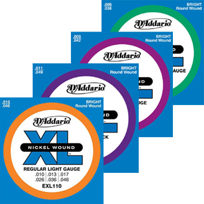 D'Addario Electric Strings.