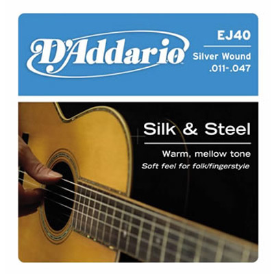 D'Addario Silk and Steel Strings.