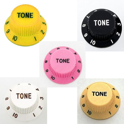 2 Pack Plastic Tone Knobs for Strat.