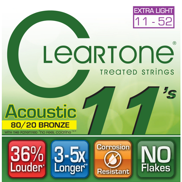 Cleartone 80/20 Bronze Acoustic Strings.