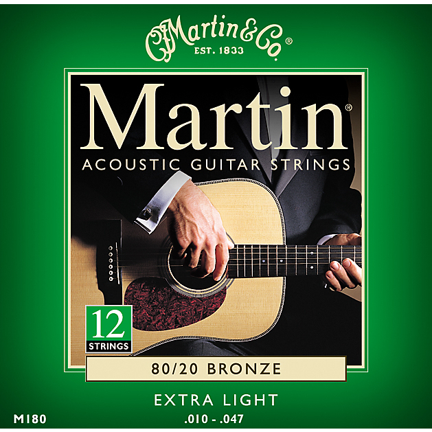 Martin 12 String Acoustic Strings 80/20 Bronze.