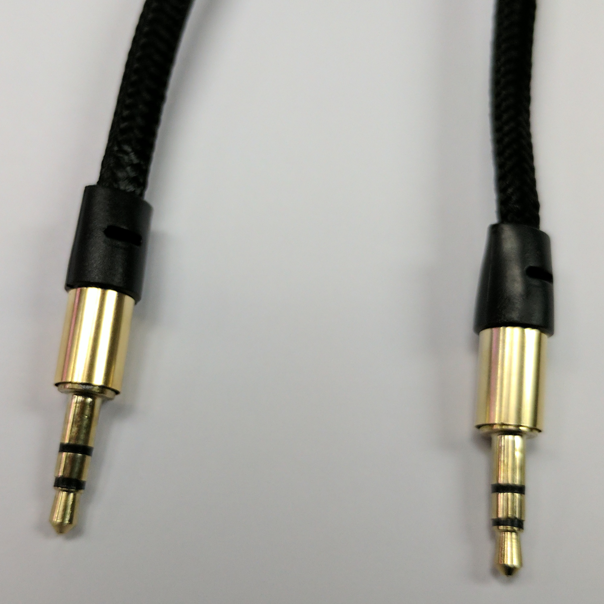 "3 Foot Braided 1/8"" TRS Audio Cable."